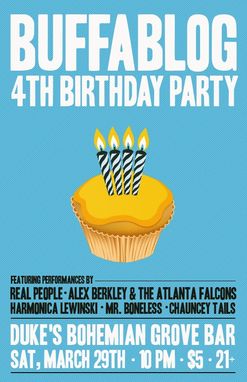 Tonight: buffaBLOG 4th Birthday Party