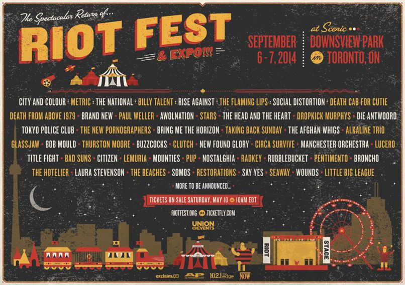 Win Two Passes to Riot Fest Toronto