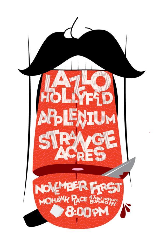 Tonight: Applennium, Strange Acres, Lazlo Hollyfeld