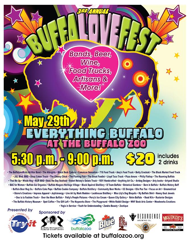 Presale Tickets Still Available for the Buffalo Zoo's BuffaLoveFest